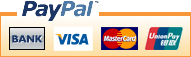 Accepted payment methods - Bank deposit, Visa and Mastercard via Paypal
